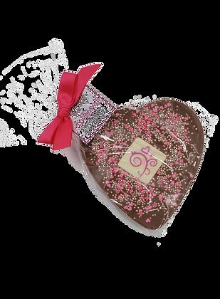Milk Chocolate Heart with White Chocolate Insert