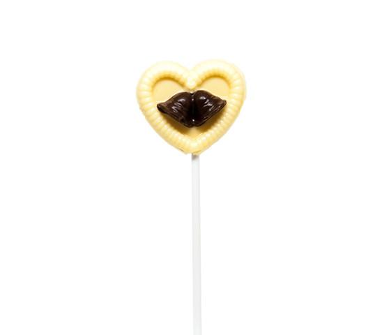 Heart Wedding Bells White Chocolate Lollipop