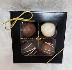 4pc Assorted Classic Handmade Truffles, 60g