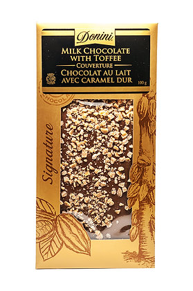 Milk Couverture Chocolate with Toffee, 100g