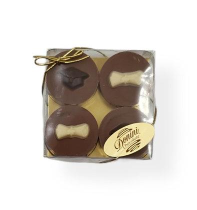 Graduation Chocolate Covered Cookies - 4pk