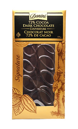 72% Dark Couverture Chocolate, 100g