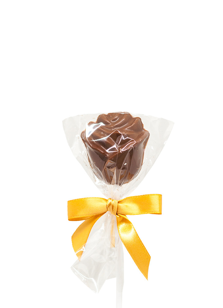 Packaged Milk Chocolate Rose Lolly