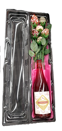 Chocolate Covered Strawberry Bouquet With Sparkling Wine
