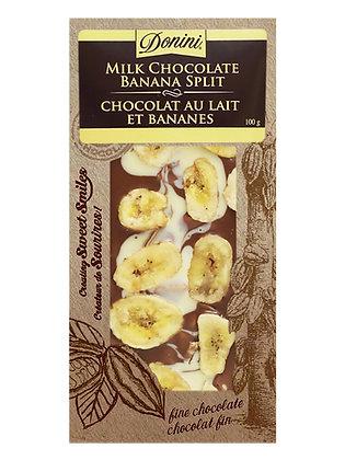 Milk Chocolate Banana Split, 100g