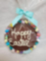 Milk Chocolate Easter Round Candy Bark, 300g