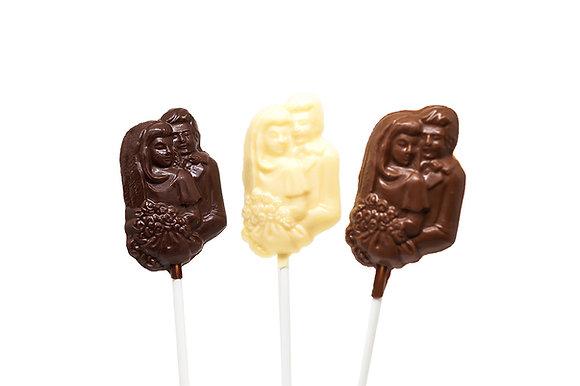 Bride & Groom Portrait Lollipop