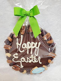 Easter Round Nut Bark, 280g, available in Milk and Dark Chocolate