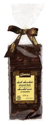 Dark Chocolate Almond Bark, 100g