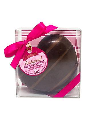 Artisanal Dark Chocolate Hollow Heart, 75 g