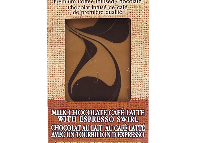 Milk Chocolate Café Latte with Espresso Swirl