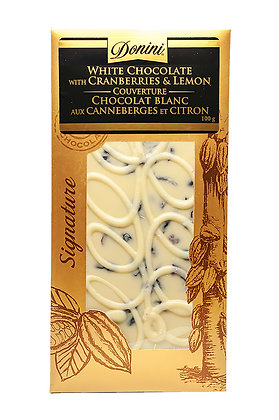 Couverture White Chocolate with Cranberries & Lemon, 100g