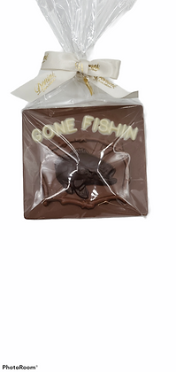 Gone Fishing Plaque, 100G