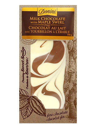 Milk Chocolate Maple Swirl, 100g