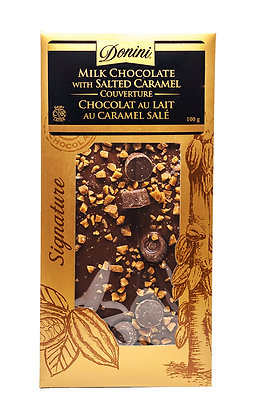 Couverture Milk Chocolate with Salted Caramel, 100g
