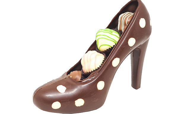 High Heel Chocolate Shoe Filled with Truffles