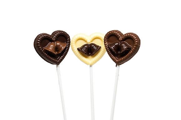 Small Wedding Bells Heart Lollipop