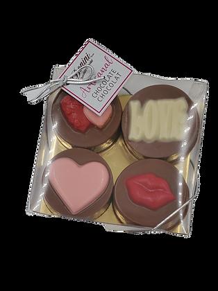 "Valentine Chocolate Dipped ""Oreo"" Cookies"