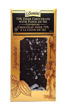 72% Dark Couverture Chocolate  Fleur de Sel, 100g