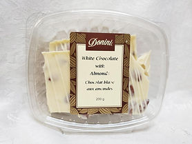 White Chocolate Almond Bark, 200g
