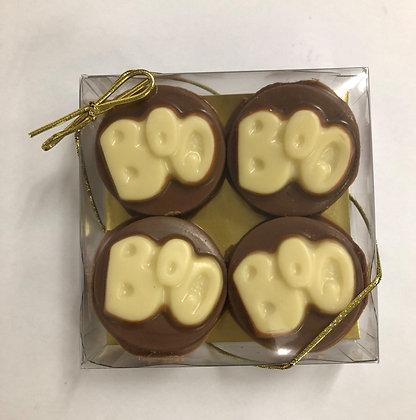 Chocolate Dipped Oreo Cookies - Boo
