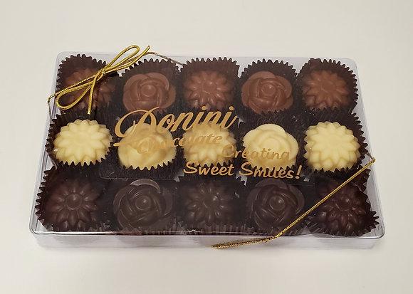 15 Piece Chocolate Flowers, 225 g