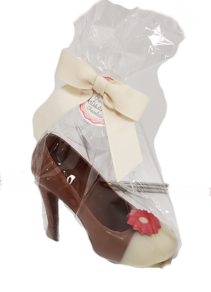 Designer Chocolate Red High Heel Shoe, 85 g