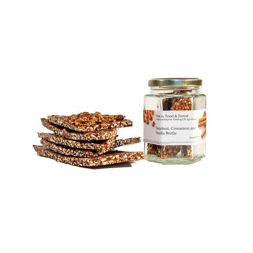 Hazelnut, Cinnamon, and Vanilla Brittle - 100g
