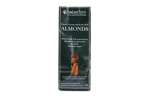 Organic Cayenne and Garlic Almonds - 100g