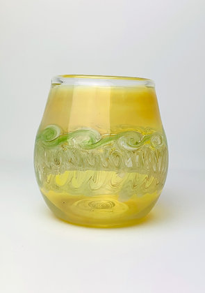 Stemless Fume and Green Glass