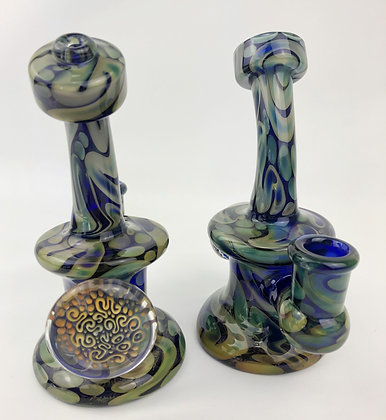 #0012 -Fumed Banger Hanger w/ implosion disc