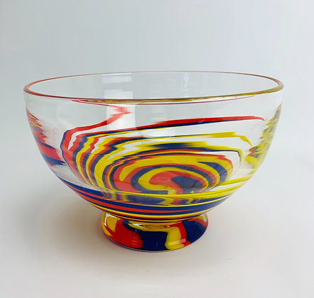 Wig Wag- Footed Glass Bowl