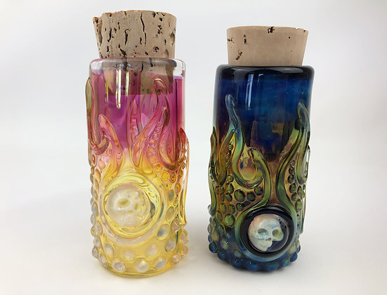 #0054 - Flaming Skull Jar