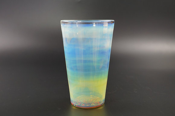 Fumed Pint Glass with Wig Wag inlay