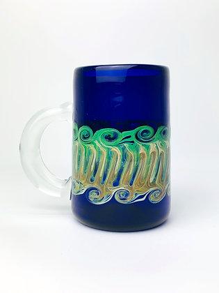 Carmel Green Swirl Mug