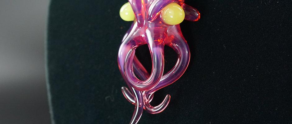 Mak Glass Cthulhu pendant