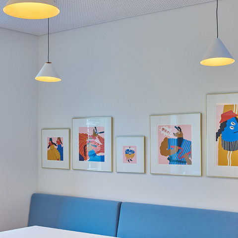 Our offices represent our brand: playful, colorful, fun, and bright.
