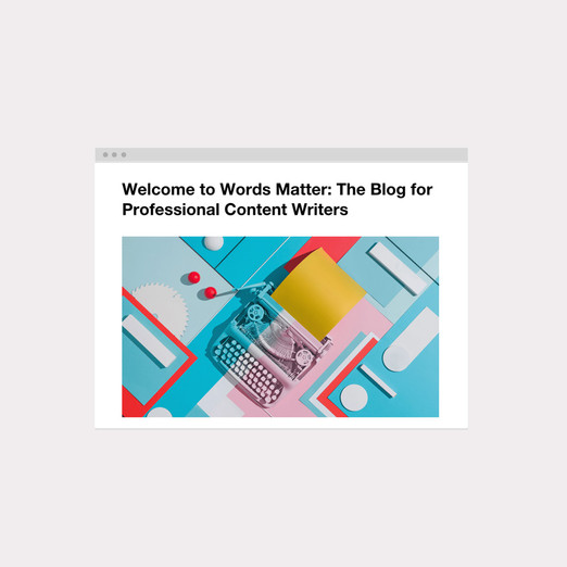 On our blog, Words Matter, we write articles that inspire, help, and motivate others who write online.