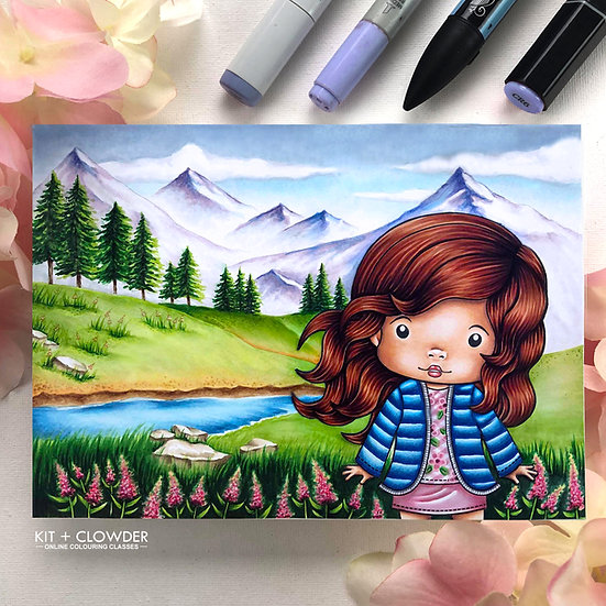 Beautiful Backgrounds Class - Markers