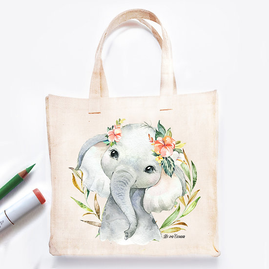 Pre-Coloured Bag Elephant