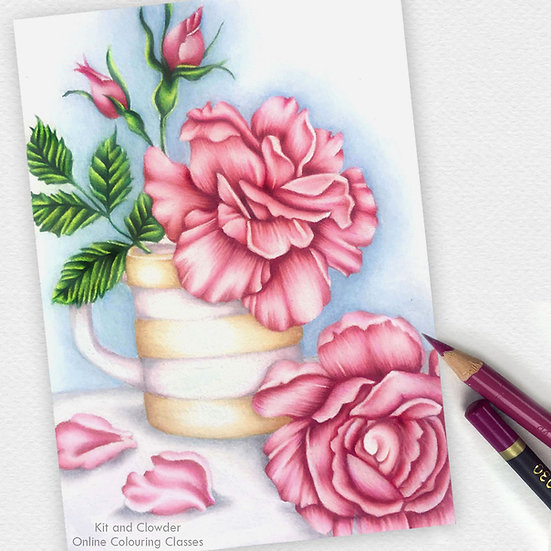 Project Class - Fabulous Florals Pencils