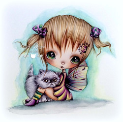 Pinky with Flaffy Kitten