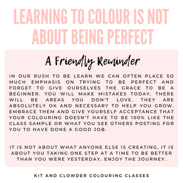 Friendly Reminder on Taking Colouring Classes