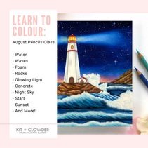 Monthly Colouring Classes + Tutorials for Markers, Pencils