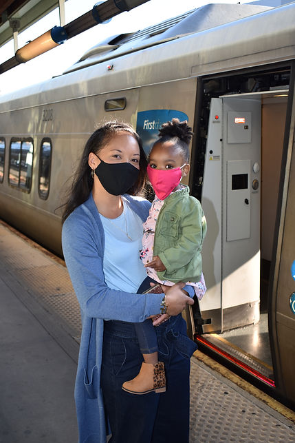Boarding Train with Face Coverings002.JPG