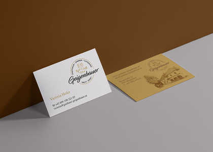 Gasthaus Geigenbauer Visitenkarten