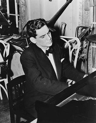 Leonard Bernstein at the piano, courtesy
