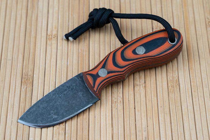 Black and Orange G-10 Neck Knife