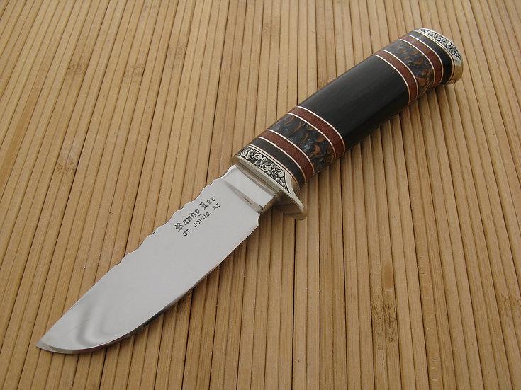 Engraved African Blackwood Hunter