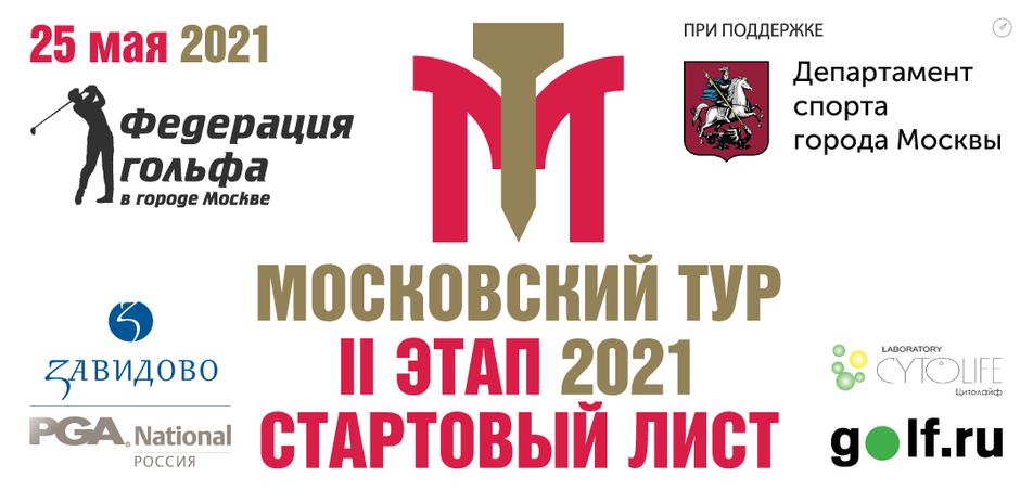 Стартовый лист на II этап Московского тура